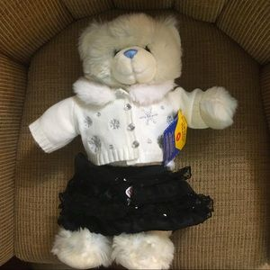 Build a Bear white plush Teddy bear